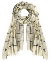 A5283-Plaid-EyelashFringe-Scarf-Cream-KL