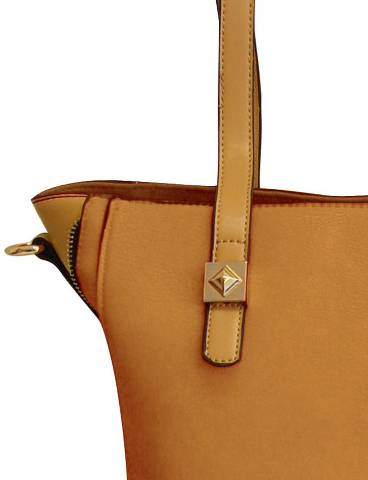 Peach Couture Valentina Top Handle Slouchy Hobo Hand Bag Office Style Tote Purse
