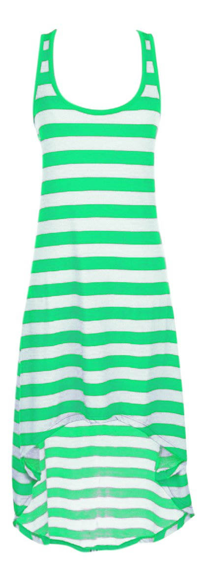 A1445-Hi-Lo-Stripe-Maxi-Green-XL-KL