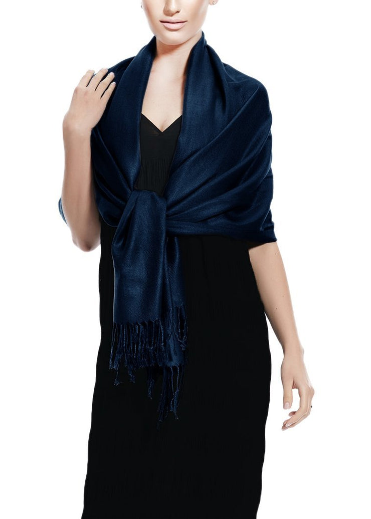 Midnight Blue Pashmina Shawl