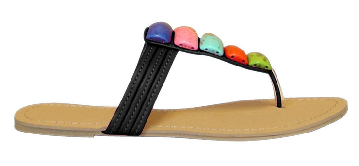 Colorful Clay River Rocks Womens Sandals Flip Flops