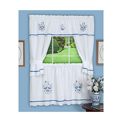 A1355-Cottage-Curtain-58x24-Blue-SM
