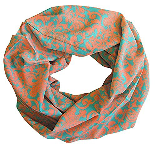Peach Couture Women's Henna Tribal Floral Paisley Print Boho Infinity Scarf Loop