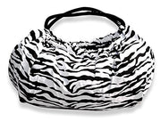 Peach Couture Versatile and Classy Zebra Print Shiny Straps Boho Shoulder Bag