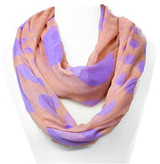 Peach Couture Vintage Multicolored Classic Bright Polka Dot Infinity Loop Scarf