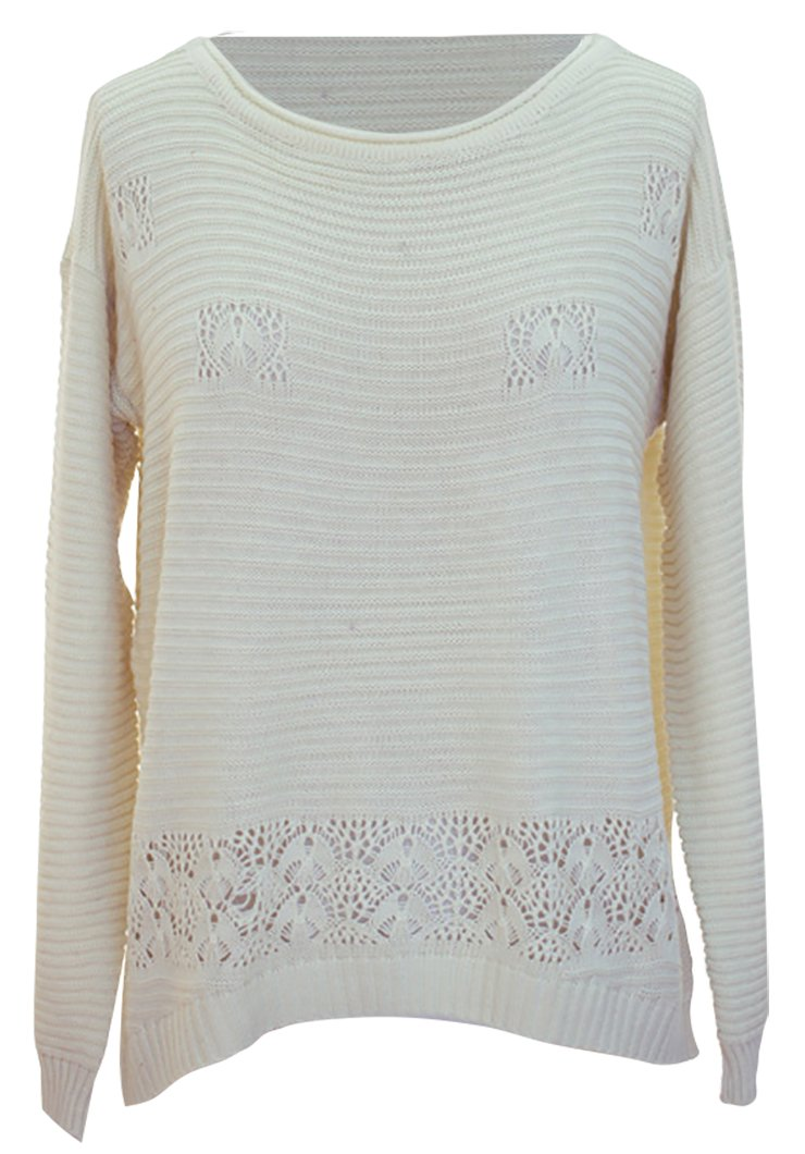 A303-Crochet-Longsleeve-White-Medium-SI