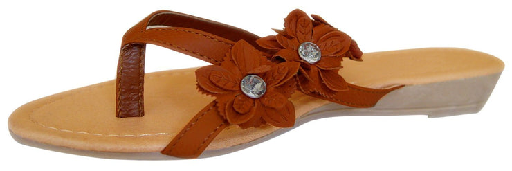 A8422-Flower-Gem-Flip-Flop-Brown-6-RK