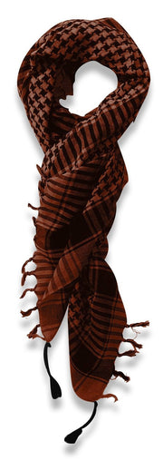 Peach Couture 100% Cotton Unisex Tactical Military Shemagh Keffiyeh Scarf
