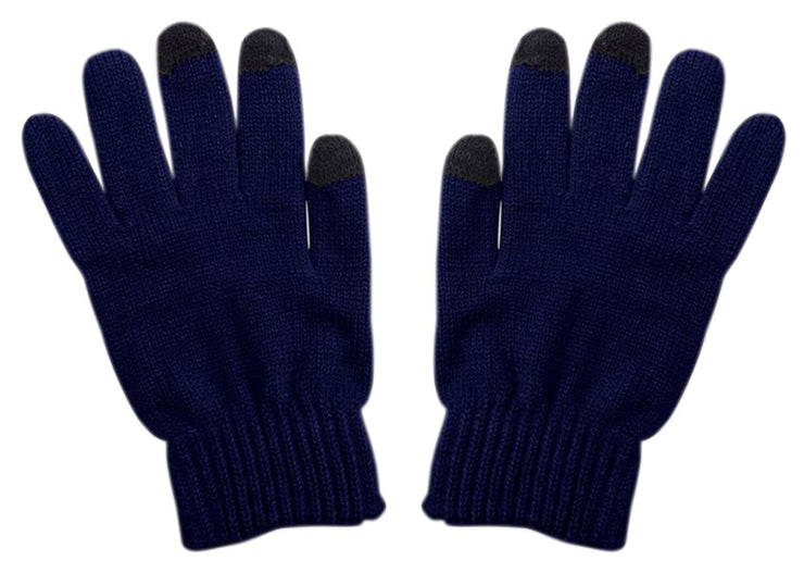 Unisex Warm Knitted Texting Gloves for Iphone Android Smart phones Touch screens Midnight Blue