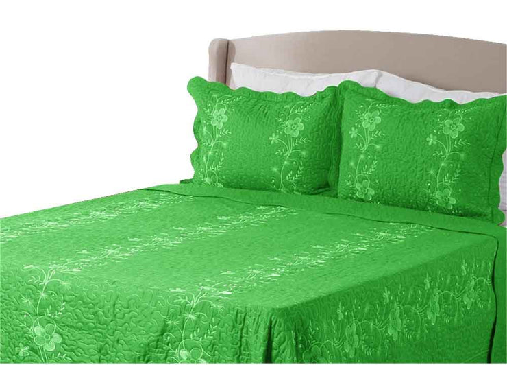 A4036-Embroidered-Solid-Green-