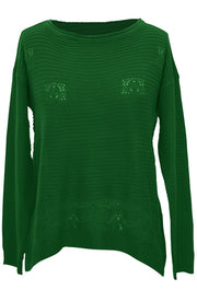 B1882-Knit-Sweater-Green-S-AC