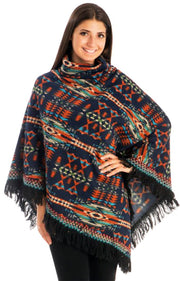 A6991-Tribal-Turtleneck-Poncho-Navy-OS-M