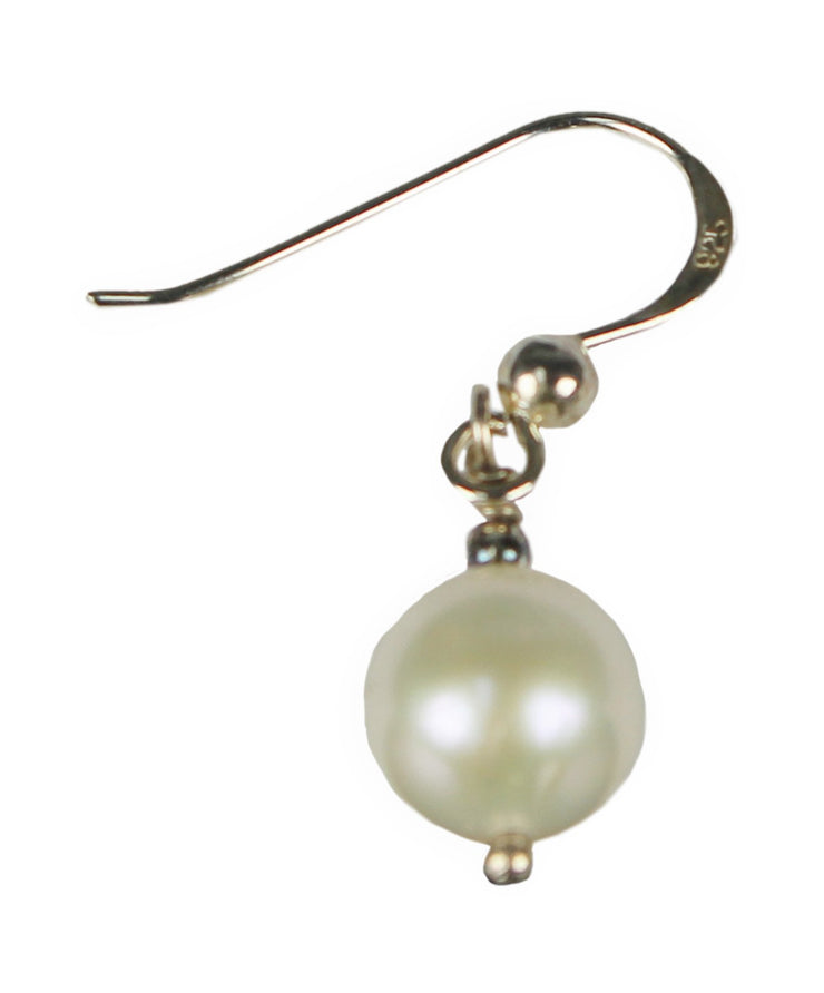 Gems Couture Jewelry Sterling Silver Pearl Dangle Earrings
