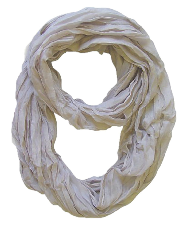 Silver Peach Couture Fashion Lightweight Crinkled Infinity Loop Scarf Neon Faded Ombre