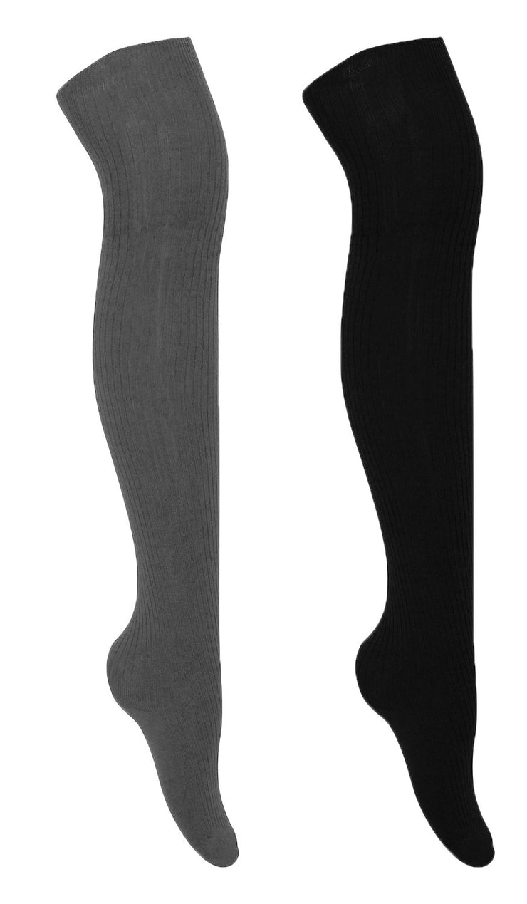 A3364-Fleece-Over-Knee-GreBla-Rib-KL