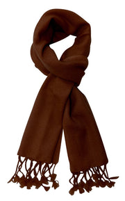 cashscarf-Chocolate Brown