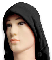 Multi Function Fleece Lined Balaclava Hood Ski Mask Bike Wind Stopper Ebony
