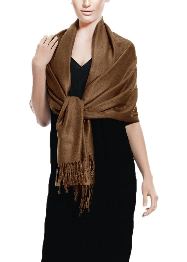 Chocolate Brown Pashmina Shawl Wrap Scarf