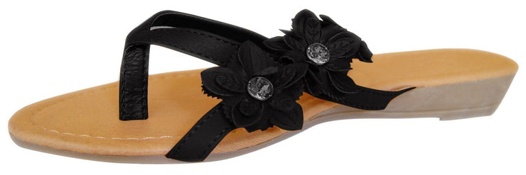 A8474-Flower-Gem-Flip-Flop-Black-5-RK