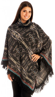 A6990-Tribal-Turtleneck-Poncho-Black-KL