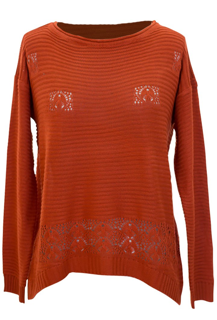A303-Crochet-Longsleeve-Orange-Small-SI