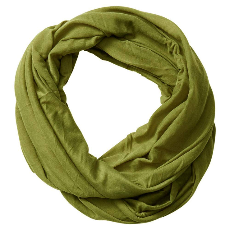 Olive Peach Couture Cotton Soft Touch Vivid Colors Lightweight Jersey Knit Infinity Loop Scarf