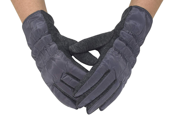 Womens Texting Touchscreen Fleece Lined Winter Driving Gloves (Grey)