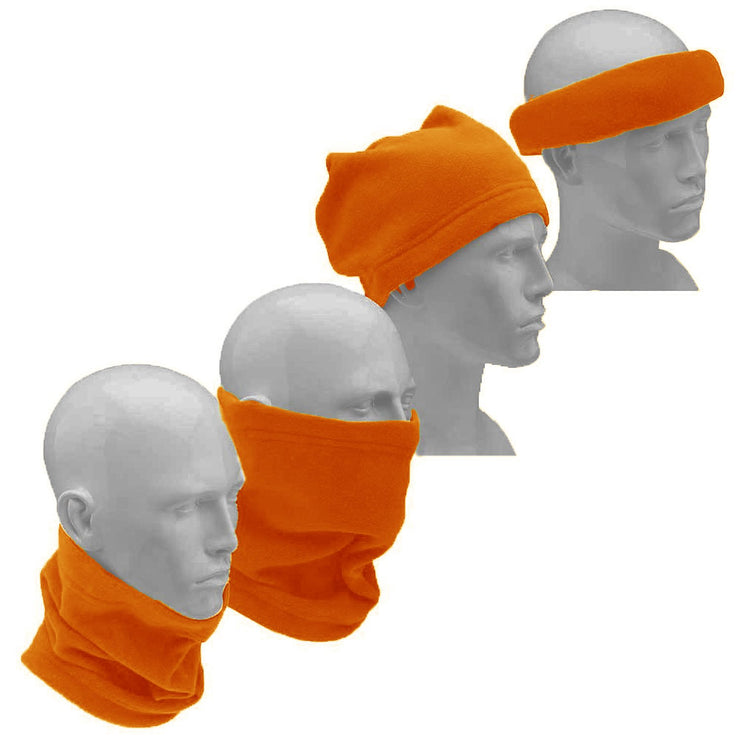Peach Couture Thick Knit One Hole Facemask Balaclava Snowboarding Biker Mask (Orange)