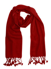 Pure-Cashmere-Scarf-Solid-Red-