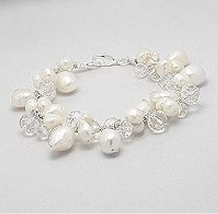 Elegant Japanese Pearls and Glass Beads Silk Thread Bracelet