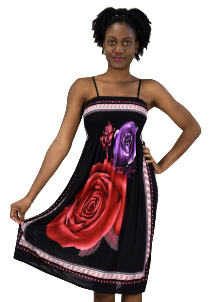 B4024-Midi-Rose-BlackRed-XL/XX