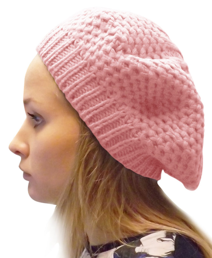 A3403-Stylish-Knit-Beret-Pink-JG