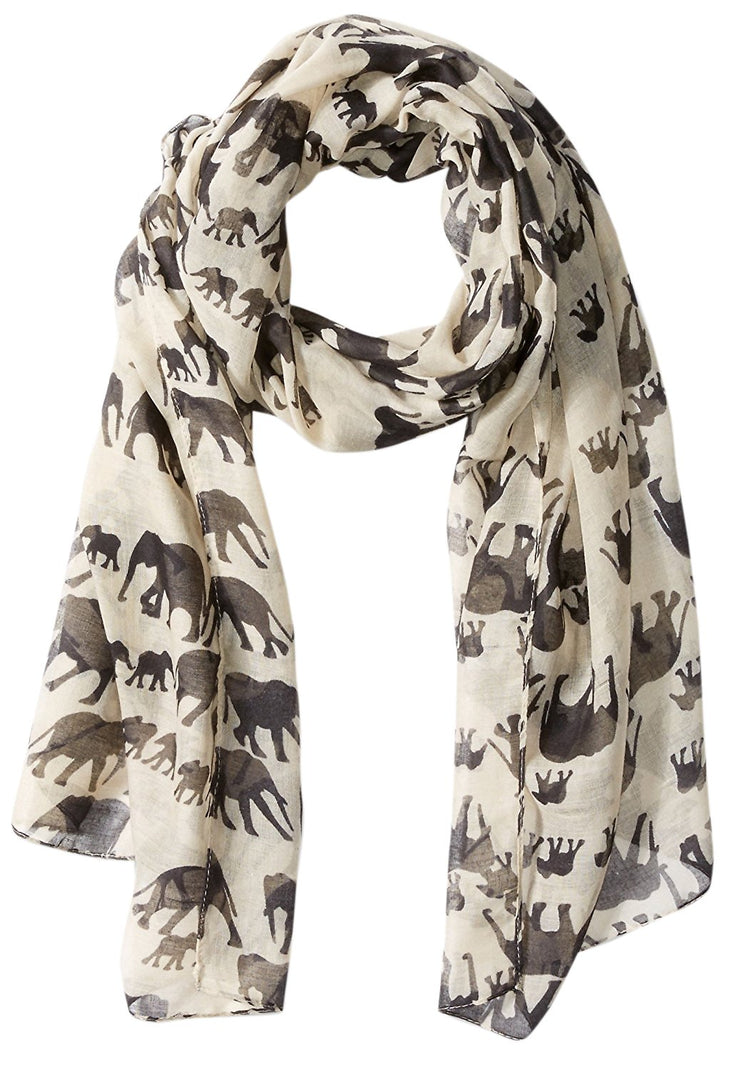 Peach Couture Chic Trendy Lightweight Flamingo Elephant Print Wrap Scarf Shawl
