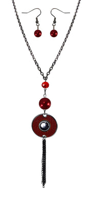 B0515-Long-Chain-Circle-Necklace-Red-OS