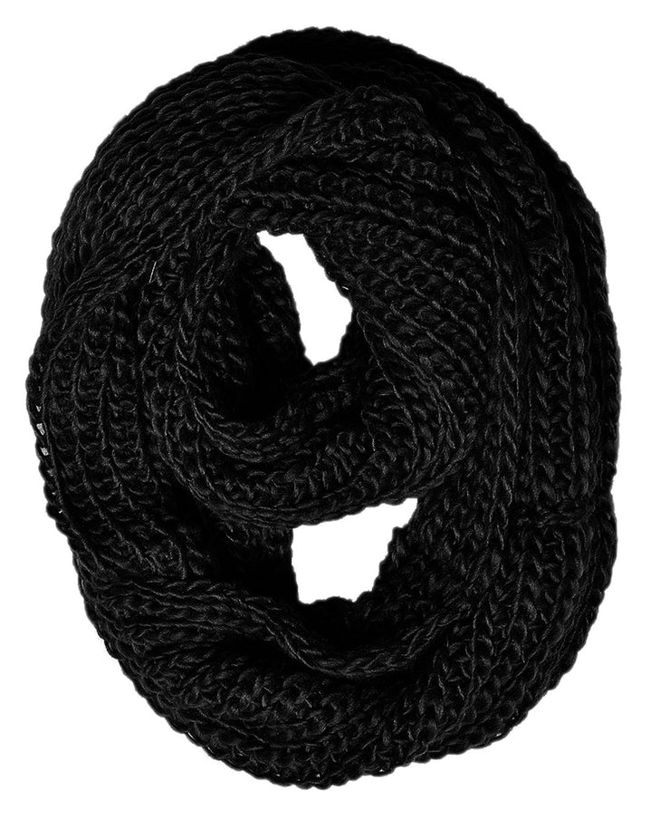 Chunky Warm Knitted Infinity Loop Scarf in Several Colors