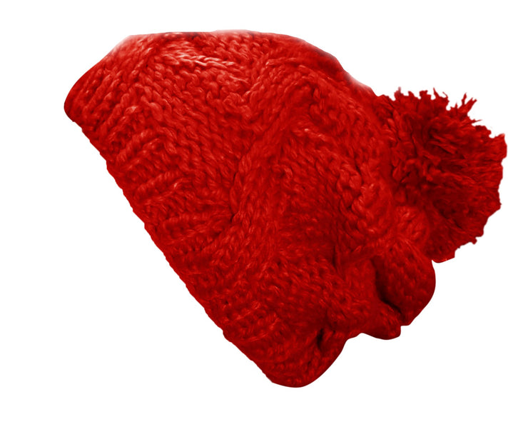 A3284-Hand-Knit-Slouchy-Hat-Red-JG