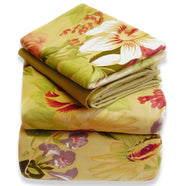 A2082-Floral-Bed-Sheets-Set-King-Tan