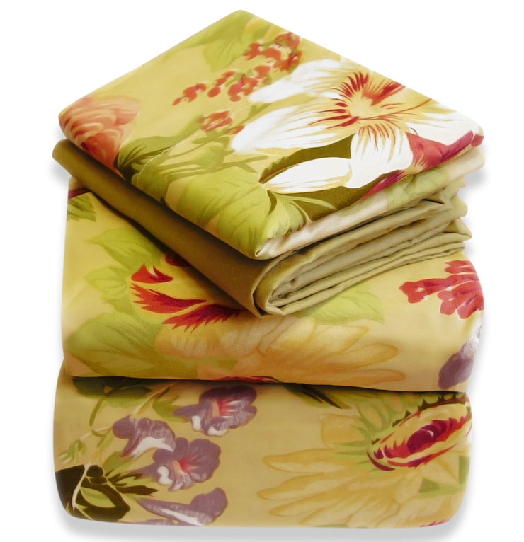 A2080-Floral-Bed-Sheets-Set-Twin-Tan