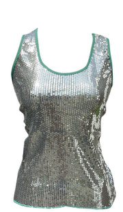 147-highLow-sequin-top-GREEN/S-SMALL-SI
