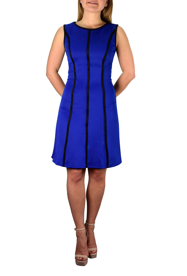 A9400-StripeSkater-Solid-Dress