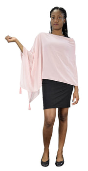 Peach Couture Womens Light Weight Sheer Shrug Poncho One Shoulder Cover up