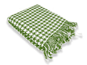Home Collection Soft and Luxurious Cashmere Wool Houndstooth Throw 50 x 60 in (Sage)