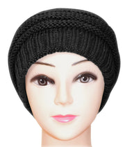 Trendy and Warm Zig Zag Crochet Knit Convertible Beanie Neck wear