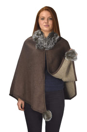 B9025-Neck-Fur-PomPom-Brown-OS