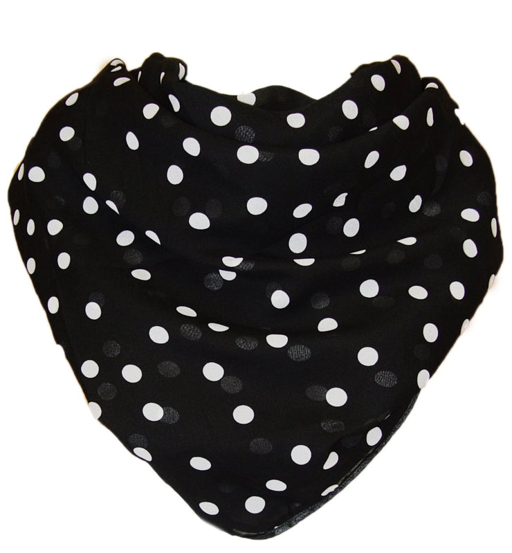 Fashionable Stylish Chiffon Feel Polka Dot Scarf/wrap with Slim Silk Feel Border