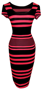 A1576-Striped-BodyconDress-Pink-Sm-JG