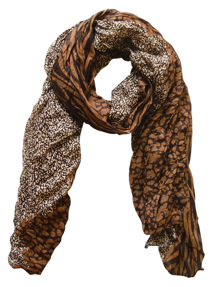 A1155-Animal-Crink-Scarf-Brown-FBA-SM