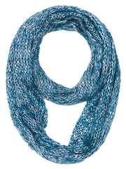 Shimmering Winter Warm Cozy Sparkle Infinity Loop Cowl Scarves