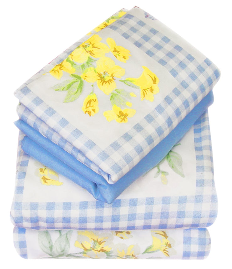 A2155-Floral-Sheets-Set-Twin-PicBlue