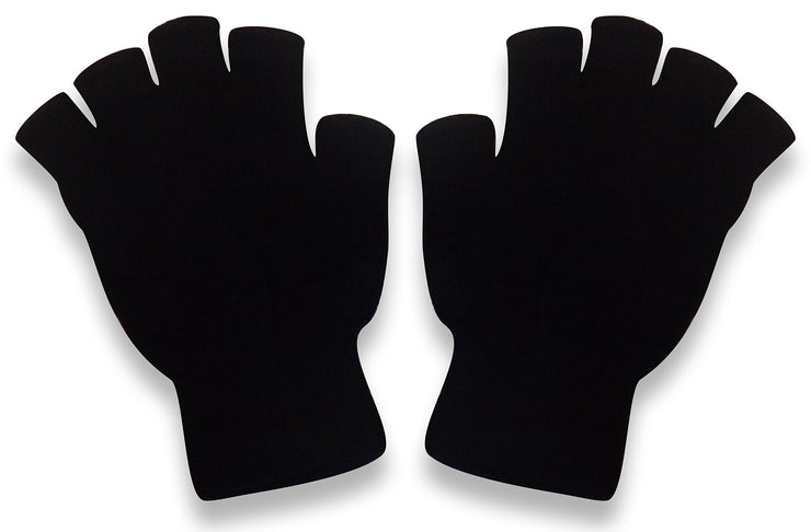 Winter Soft Knit Fingerless Funtional Flap Mitten Gloves
